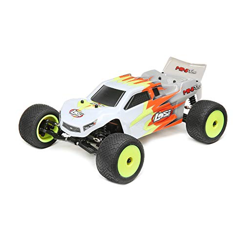 Losi 1/18 Mini-T 2.0 2WD Stadium RC Truck Brushed Ready to Run (Battery, Receiver, Charger and Transmitter Included), Gray/White, LOS01015T3