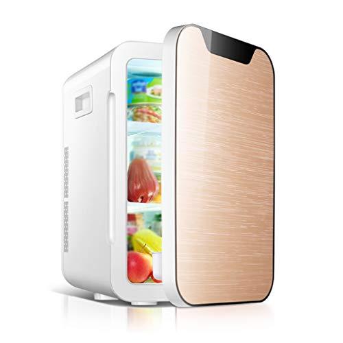 Réfrigérateur Atmosphérique 20l Voiture Mini Petite Maison Étudiant Dortoir Double Usage Réfrigération Location Unique Usage Deux Couleurs 28 * 34 * 44 cm XMJ (Color : Gold)