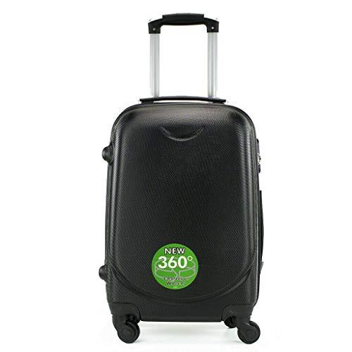Maleta 4 Ruedas 360º Equipaje para FACTURAR Viajar Viaje 65x45x35cm Negro