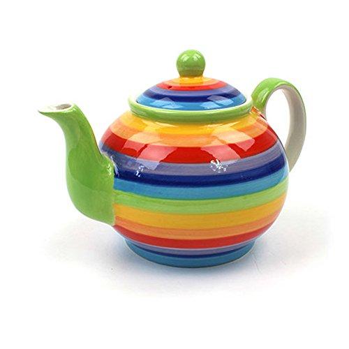 Windhorse Teekanne Regenbogen, Keramik, für 4Tassen