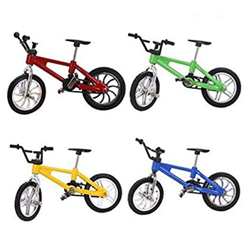 4 Pcs Miniature Finger Mountain Bike Excellent Functional Metal Toys Mini Extreme Sports Finger Bicycle Cool Boy Toy Creative Game Gift Toy