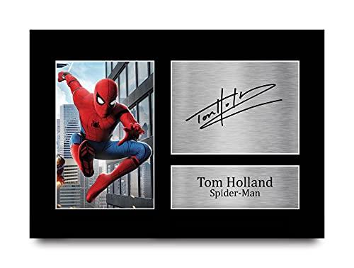 HWC Trading Tom Holland A4 Unframed Signé Image Autographe Imprimé Impression Photo Cadeau D'Affichage pour Spiderman Les Amateurs De Cinéma