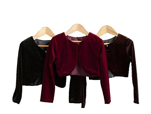 Crayon Kids Classy 825 Beautiful Cardigan/Sweater for Girl - Black 6T