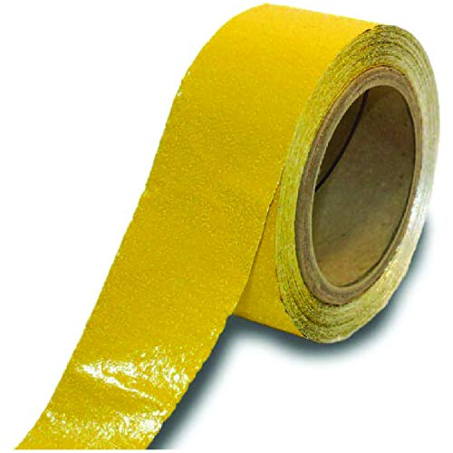 ifloortape Yellow Permanent Reflective Outdoor Basketball/Pickleball Court Marking Tape for Asphalt, Pavement, and Concrete (2 Inches x 150 Feet per Roll)