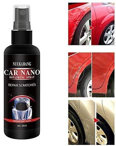 DLLMA Auto Nano Reparaturspray, Keramikbeschichtung Super Hydrophober glasartiger Glanz (100ML + 4 Handtücher)