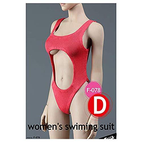 ZSMD 1/6 Scale Sexy Badeanzug Bikini Action Doll Kostüm Für HT VERYCOOL TTL Play PHICEN (D)