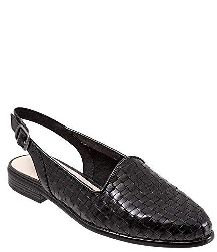 [トロッターズ] シューズ 26.5 cm パンプス Lena Woven Leather Slingback Flats Black レディース [並行輸入品]