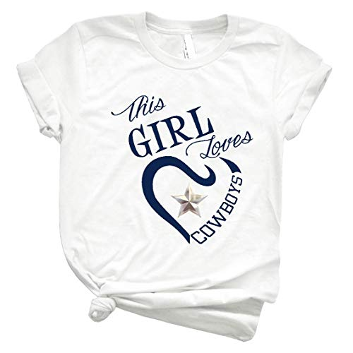 This Girl Loves Cowboys Dallas Texas Design4 Slim Fit T-Shirt Sweatshirt Long Sleeve Hoodie