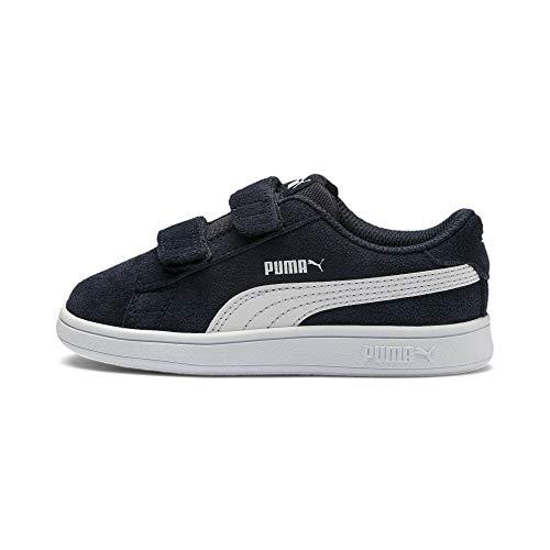 PUMA Smash V2 SD V Inf, Sneaker Unisex-Bambini, Blu(Peacoat White), 23 EU