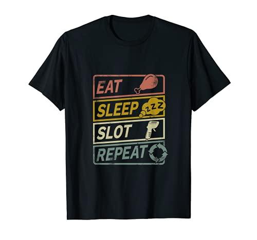 Slotcar Slotracing Handregler Retro T-Shirt