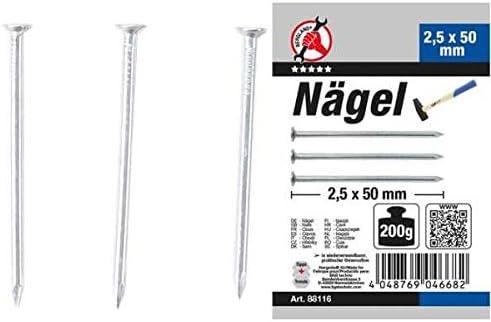 Kraftmann 88110 200 g N/ägel-Sortiment 1,4 x 25 mm