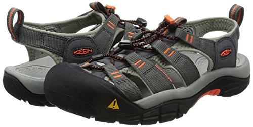 Keen Newport H2, Chaussure de randonnée Homme, Gris/Orange (Magnet Nasturtium), 44.5 EU
