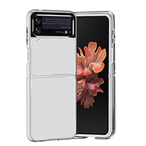 NEWZEROL Schutz Kompatibel für Samsung Galaxy Z Flip 3 5G Hülle, [TPU Rahmen + PC Abdeckung] [Unterstützung für Kabelloses Laden] [Nicht Vergilbend], Kristallklare Stoßfeste Schutzhülle - Transparent
