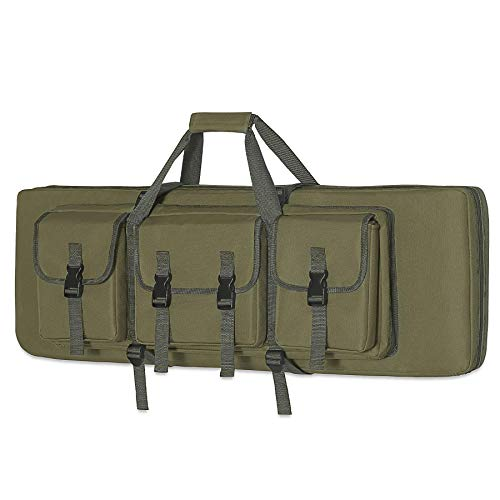 DULCE DOM 36 inch Double Rifle Case Soft Bag Gun Case, Perfect for Rifle Pistol Firearm Storage and Transportation, All Around Shooting Range Tactical Rifle Backpack, Indoor Outdoor