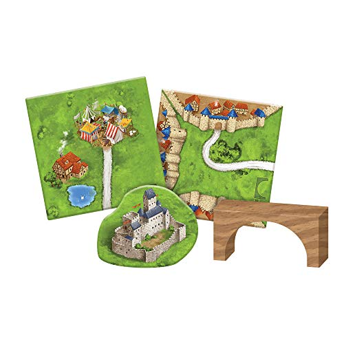 Carcassonne Bridges, Castles & Bazaars Board Game EXPANSION 8 | Family Board Game | Board Game for Adults and Family | Strategy Board Game | Adventure Board Game | 2-6 Players | Made by Z-Man Games