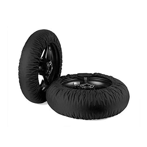 Oldbones Calentadores de neumáticos Juego de calentadores de neumáticos Racing motocicleta Superbike cubierta 120/190 con 220 V y enchufe británico negro de una sola temperatura