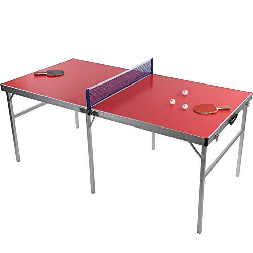 Greensen Mesa De Ping Pong con 2 Raquetas y 3 Pelotas para Tenis De Mesa Mesa De Ping Pong Plegable para Interior y Exterior Tamaño 180x90x75cm