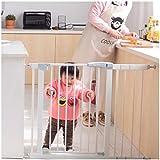 AAAGuardrail Dual Lock Walk Thru Valla Barrera De Seguridad para Bebés Puerta Ajustable Metal Chimenea con Presión Montado Guardia For El Juego Yard (Color : Height 80cm, Size : 166~173cm)