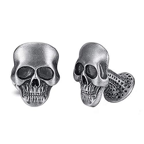 EVBEA Manschettenknöpfe für Männer Cool Stilvolle Einzigartiges Pirat Skull Totenkopf Manschettenknöpfe Set (Style Fourteen)