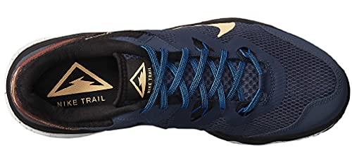 Nike Juniper Trail, Zapatillas para Correr Hombre, Thunder Blue Melon Tint Dark Pony Black, 43 EU