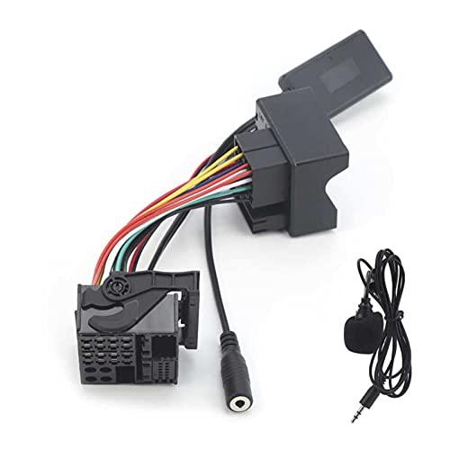 RJJX Cable Bluetooth 5.0 Música AUX Audio Adaptador Cable 6Pin Micrófono Manos Libres Cableado FIT FOR Ford Mondeo