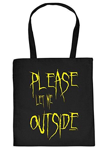 Art & Detail Shirt Bolsa de algodón con texto en alemán Please...