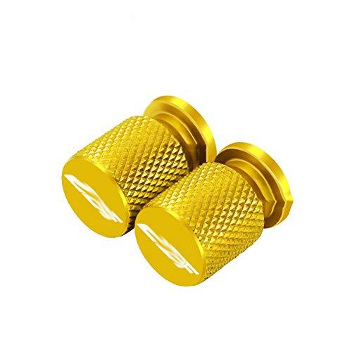 JINBINB / Ajuste para HON.DA CBF 125 150 250 500 600 600S CBF1000 CBF1000 Motorcycle Accessorie Wheel Válvula de neumático Tapas de vástago CNC Aluminio Cubiertas herméticas (Color : Gold)