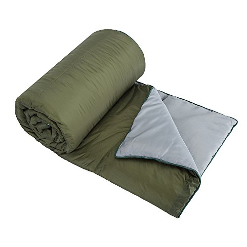 OneTigris Grey Leaf Outdoor Camping Blanket, Windproof & Ripstop, 32.5oz