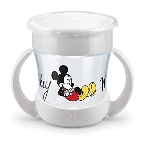 NUK 10255560 Disney Mickey Mouse Mini Magic Cup | auslaufsicherer 360° Trinkrand | praktische Griffe | 160ml | BPA-frei | ab 6+ Monate, grau, 155 g