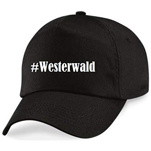 Reifen-Markt Base Cap Hashtag #Westerwald Größe Uni Farbe Weiss Druck Schwarz