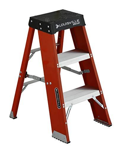 Louisville Ladder FY8003 Step Stand Ladder, 3-Foot, Orange