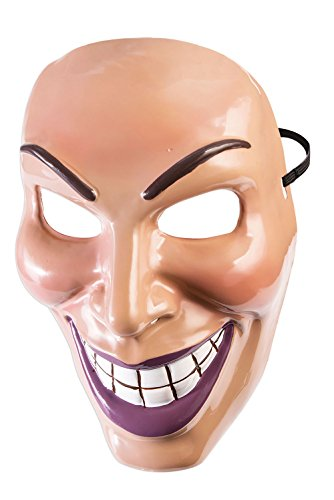 Forum Novelties X79189 Evil Grin Mask Hombre Hombre Multicolor Talla Única