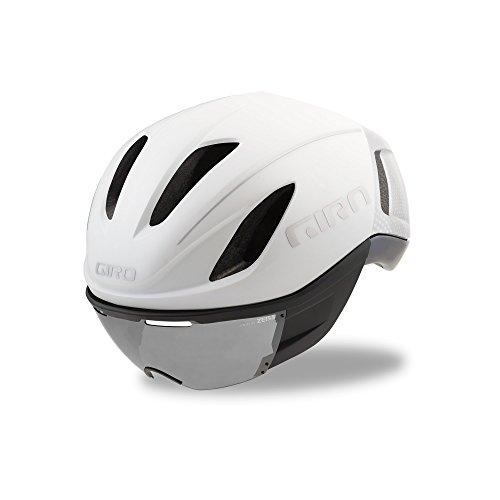 Giro Vanquish MIPS Casco de Ciclismo, Unisex, Blanco Mate y Plateado, M