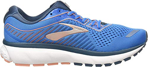 Brooks Damen Ghost 12 Laufschuh, Blue Majolica Desert, 40.5 EU