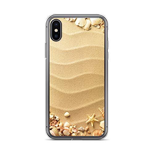 blitzversand Handyhülle Strand Muscheln kompatibel für Huawei P30 PRO Sandstrand Muscheln Schutz Hülle Case Bumper transparent rund um Schutz M16