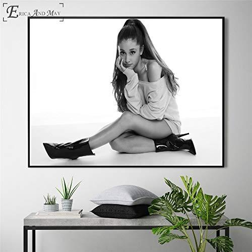 Weibliche Sterne Bild Leinwand gedruckt Plakate und Drucke Wandkunst Wohnzimmer Wohnkultur,Rahmenlose Malerei-60X90cm
