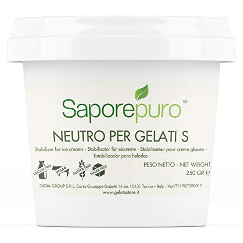 Neutro Stabilizzante per Gelati e Sorbetti con Farina di carruba, Tara, Farina di Guar, Emulsionante - barattolo 250 grammi