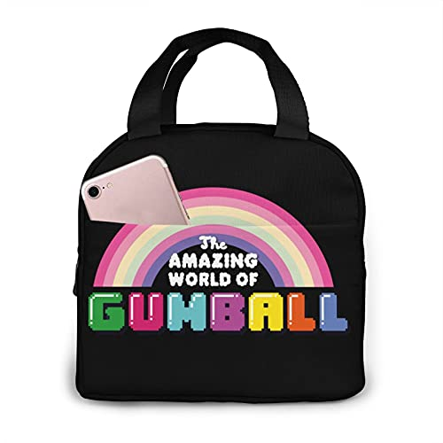 The Amazing World of Gumball - Bolsa de almuerzo con aislamiento impermeable reutilizable para mujeres, adultos, picnic, trabajo, escuela, etc