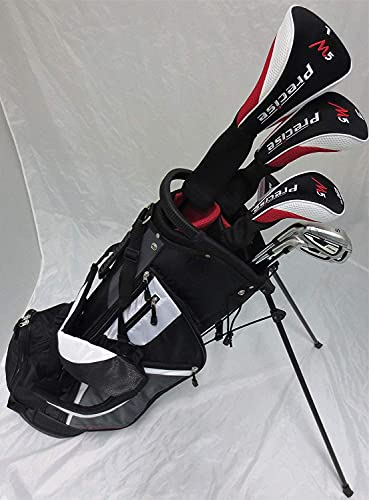 Mens Left Handed Golf Complete Set Driver, Wood, Hybrid, Irons, Wedge, Putter Clubs Deluxe Stand Bag Lefty LH