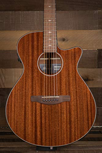 Ibanez AEG62 6-String Acoustic-Electric Guitar (Right Hand, Natural Mahogany High Gloss)