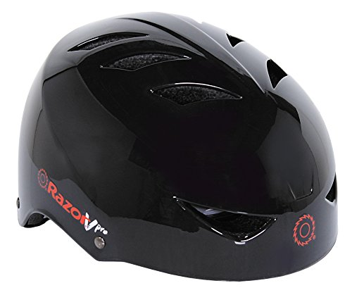 Razor VPro Multi-Sport Youth Helmet with No-Pinch Magnetic Buckle, Black