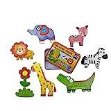 Puzzle Madera- Puzzle Animales - Rompecabezas 3 años [[2021]] Juego Educativo para Desarrollo Intelectual basado en método Montessori Regalo Juguetes 3 años