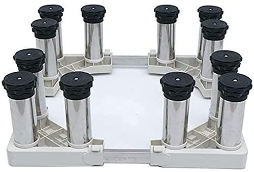 Ghongrm Soporte de refrigerador Ajustable Soporte de Trabajo Pesado 4/8/12 Piernas Anti-vibración Lavadora Soporte de Base Aumento de la Base de la Base de la Base Ancho/Longitud 42-70cm Stent - 400