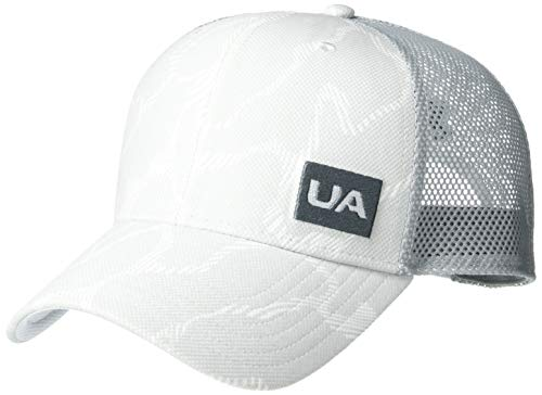 Under Armour Men's Blitzing Trucker 3.0 Cap, Halo Gray (014)/ Pitch Gray, One Size Fits All
