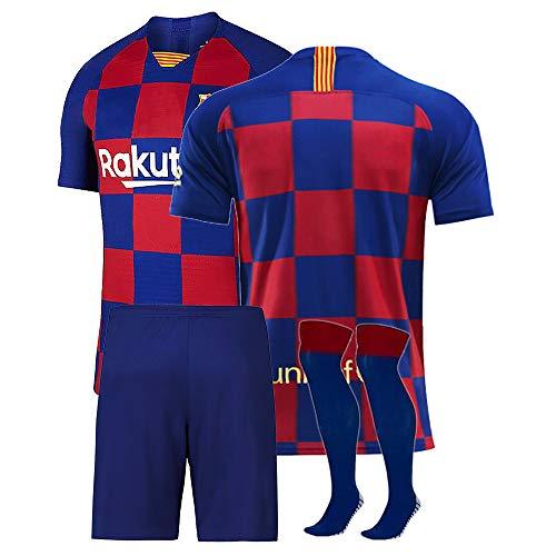 Wopee Maillot de Foot + Shorts + Chaussettes Personnalisés Ensemble de Football Enfants Adulte Personnalisez Maillot de Football Ensemble Foot avec Tout Numéro de Nom