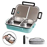 WORTHBUY Stainless Steel Lunch Container, 2 Section Design, Keep Foods...