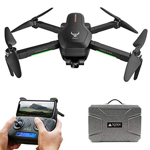 Leic Dron fotográfico SG906 PRO 2 5G WiFi 4K HD 50x cámara aérea de tres ejes anti vibración, cardán GPS Sigue gestos drones con maletín