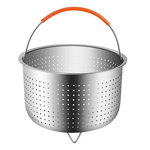 Dianmu Panier à Vapeur en INOX avec Poignée en Silicon, Accessoires cookeo pour autocuiseur Compatible avec La Plupart des Autocuiseurs, Idéal pour Cuire à la Vapeur des Légumes
