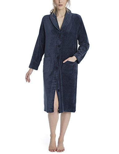 CALIDA Damen Tilda Kimono, Blau (Night Shadow 359), Small
