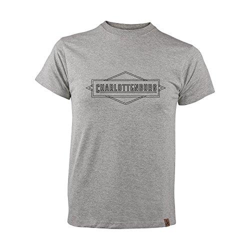 AMPELMANN Berlin Kiez Kollektion Charlottenburg | T-Shirt Herren | Graumeliert Bio-Baumwolle & Viskose (M)